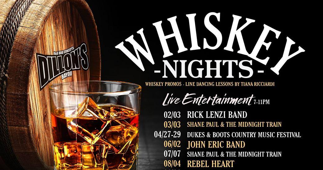 Dillon S Bayou Whiskey Nights Pleasant Harbor