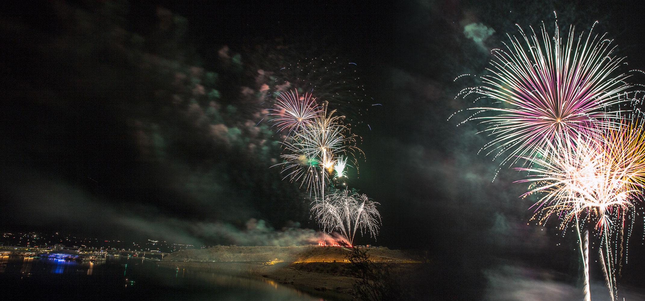Tempe town lake fireworks 2020